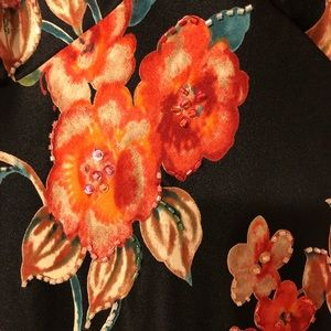 Beautiful JS Boutique Size 12 Floral Beaded Gown